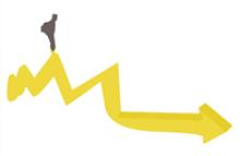 Imagen de una flecha que avanza como camino y una silueta sobre ella